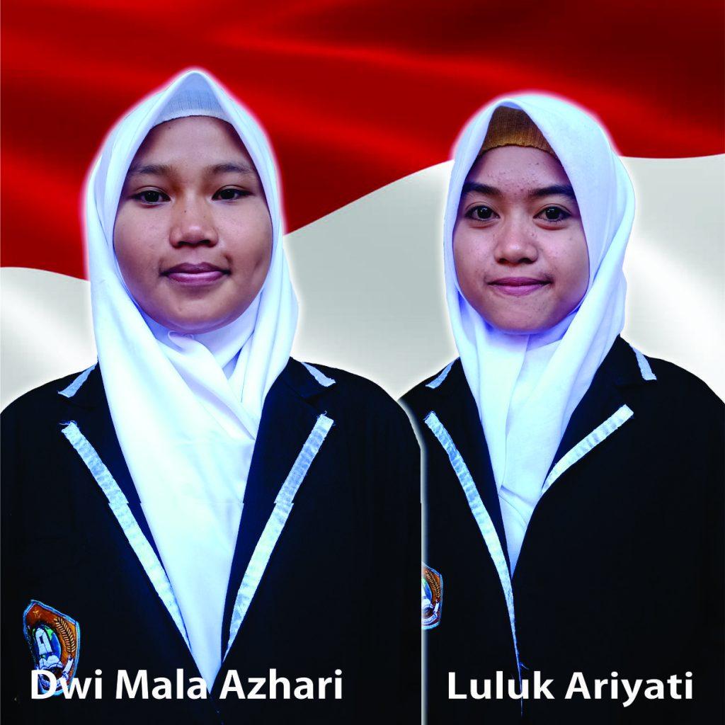 Dwi Mala Azhari & Luluk Ariyati sebagai Ketua dan Wakil Ketua OSIS SMKN 1 Praya Tengah