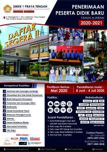 Poster PPDB SMKN 1 Praya Tengah 2020